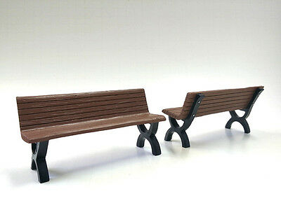 1/24- Two (2)  Park Benches for your shop/garage/diorama-American Diorama
