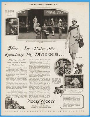 1928 Piggly Wiggly Grocery Store Ad Nationwide Vogue Women Memphis TN