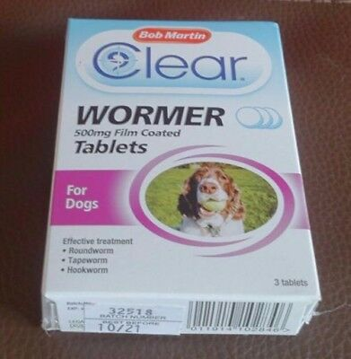 bob martins clear wormer tablets