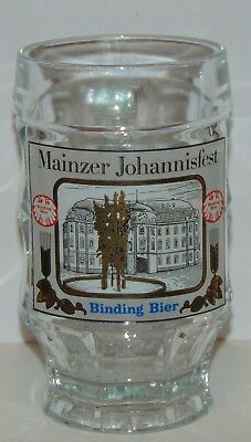 German Beer Mug Mainzer Johannisfest Binding Bier pineapple shaped glass