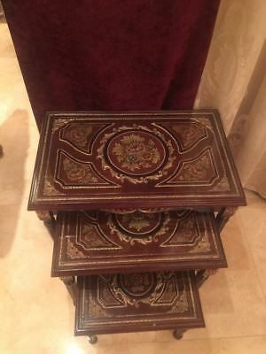 3 of Table Egyptian Wood Octagonal antic End Coffee Table Hand Carved