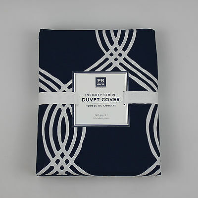 Pottery Barn Teen Dorm Collection Full / Queen Size Infinity Stripe Duvet Cover