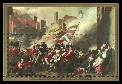 Jersey 1981 Art Paintings Death Of Major Pearson Military Battle Mnh