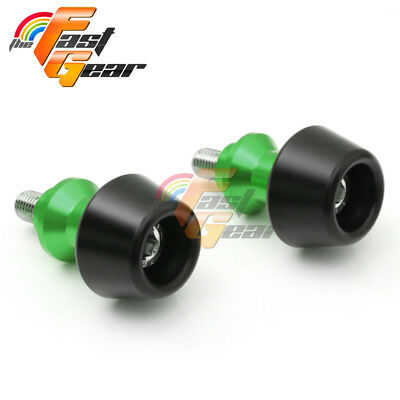 Green CNC Swingarm Spools Sliders Set Fit Kawasaki ZX-6R 636 2013-2015