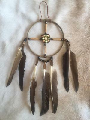 "New Native American Navajo Dream Catcher Medicine  Wheel 4"" Collectible 1"