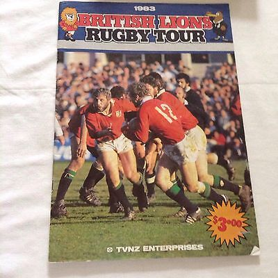 rugby union intoductory book for the lions tour to new zealand in 1983