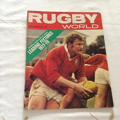 rugby union magazine rugbyworld  for september 1977