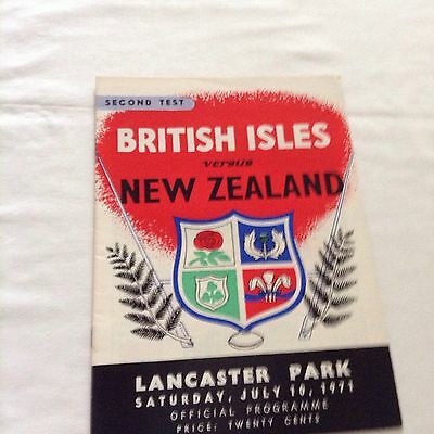 rugby union programme of lions v new zealand 2nd test at lancaster park