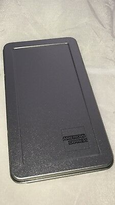 .American Express Silver Metal Tip Tray Check Presenter New