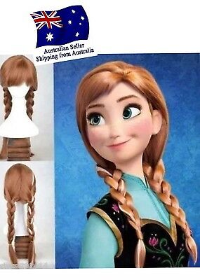 Frozen Anna's Wig Party Accessories princess wig hair