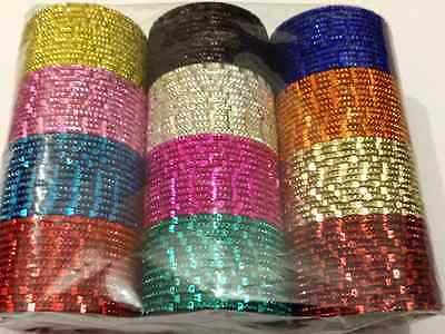 Set of144 x Indian Bangles in Different Colours Adult Size 2.8,2.6 &2.4