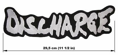 DISCHARGE logo BACK PATCH embroidered NEW hardcore punk