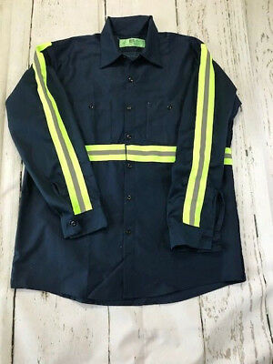 Reed High Visibility (Hi Vis) Enhanced Reflective Safety Work Uniform Shirts