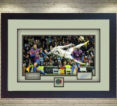 Cristiano Ronaldo Real Madrid signed autograph photo picture Memorabilia Framed.