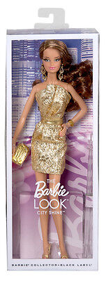 Barbie City Shine Gold Dress Doll