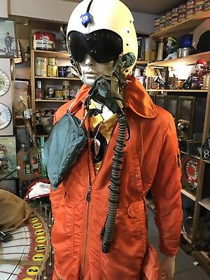 Cuban Missile Crisis Fighter Pilot Flight Suit And Helmet