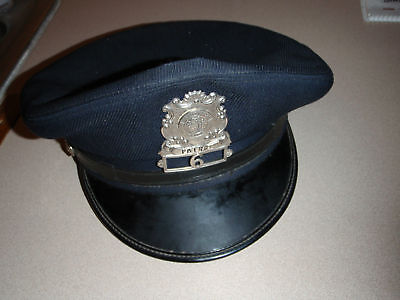 VINTAGE  Augusa MAINE  Police Department  UNIFORM HAT  STATE PATROL HAT
