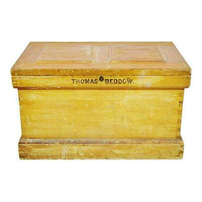 Early Steamer Storage Trunk Chest Family Trunk Carpenters Chest
