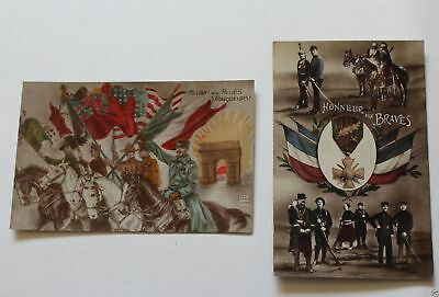 WWI French Military Postcard 1919 Allied Amry Parade Foreign Legion Honor Cross