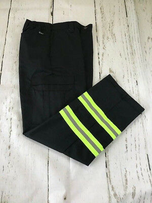 Reflective Cargo Pants Black  HiVis  Industrial Work Enhanced Visibility  Irreg