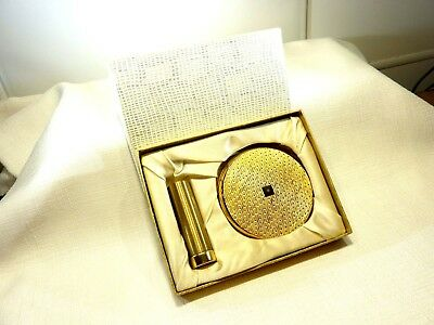 Vintage England Stratton Powder Compact & Lipstick Holder Boxed Set