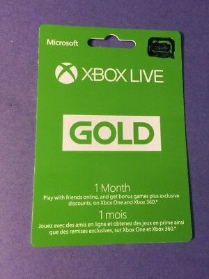 XBOX LIVE GOLD Membership [ 1 Month ] (XBOX ONE / XBOX 360) NEW