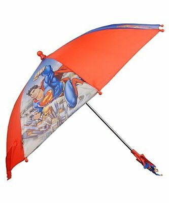 DC Comics Superman City Flight Kid's Umbrella w/Figurine Handle