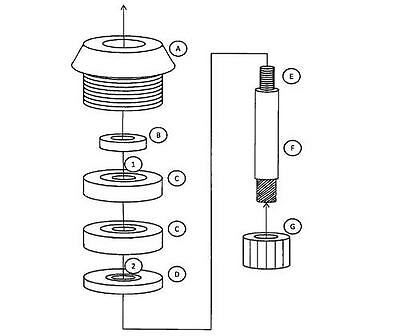 Universal Repair Kit for Vitamix Advance, XP, Ice, Wet & Dry blade assembly