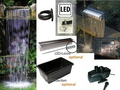 Powerfall 900 Waterfall Set 90cm Head up approx. 1,00m incl. Pump below opt. LED