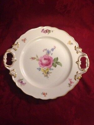 Meissen Large Floral Tray Platter With Handles Floral