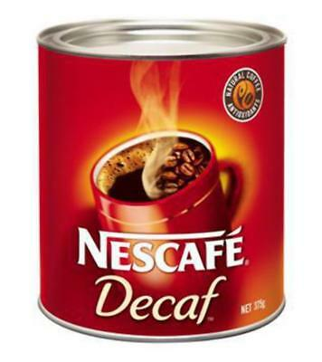 New Coffee Nescafe Decaffinated Can 375G(Each)