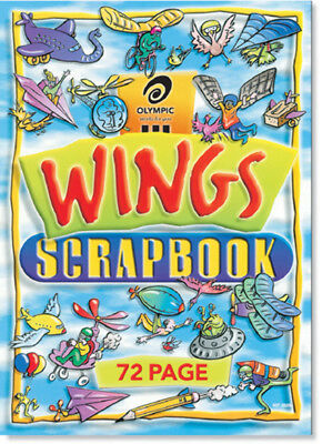 New Scrapbook Olympic 325 School Wings 72Pg(Pk10)