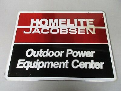 Homelite Jacobson Outdoor Power Equipment two-sided painted sign