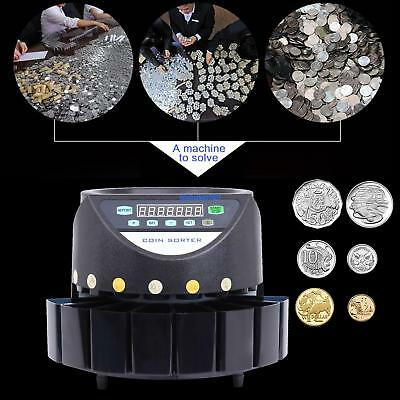 Coin Money Cash Sorter Machine Led Display Digital Automatic Electronic Counter