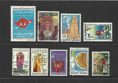 Tunisia ~ Small Mid-Modern Collection On Stock Pages