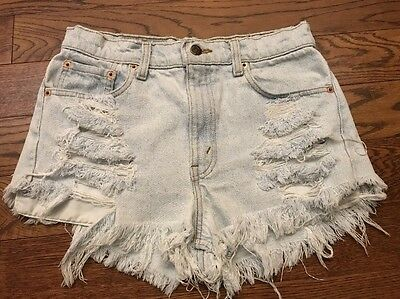 Vintage Levi's 505 Destroyed/ Distressed Cut Off Jean Shorts - 30