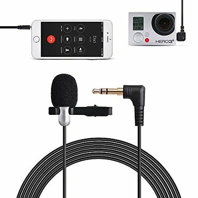Tycka 3m Clip-on Lavalier Microphone 3.5mm for Camera 3.5mm Audio Cable Y Spl...