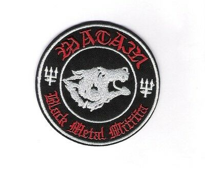 patch embroidered / écusson thermocollant Watain Black Metal Militia