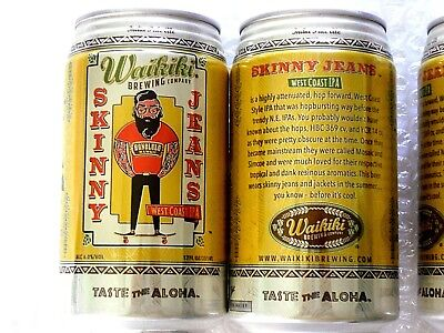 NEW EMPTY WAIKIKI BREWING SKINNY JEANS WEST COAST IPA Craft Beer 12oz Can Hawaii