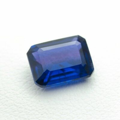 2.3ct Recrystalized Sapphire Lab Created Loose Cutstone (Hydrothermal method)