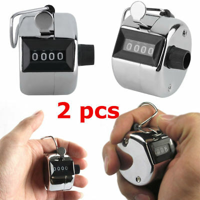 Hand Held Tally Counter Manual Counting 4 Digit Number Golf Clicker NEW SD