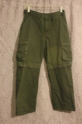 Vintage Boy Scouts Of America Convertible Pant/shorts Size Youth 14