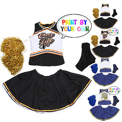Costume Deguisement Robe Debardeur Uniforme Cheerleader Pompom Girl Imprimable