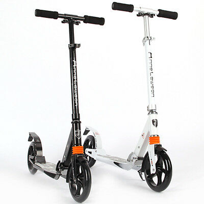 UK Adult Urban Folding Suspension Town Commute Scooter Street Wheel 200mm Kick