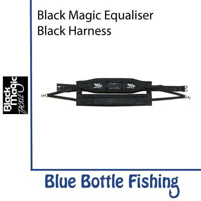 NEW Black Magic Equaliser Black Harness - XL Wide from Blue Bottle Fishing