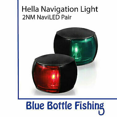 NEW Hella 2NM NaviLED Port and Starboard Pair- Black from Blue Bottle Fishing
