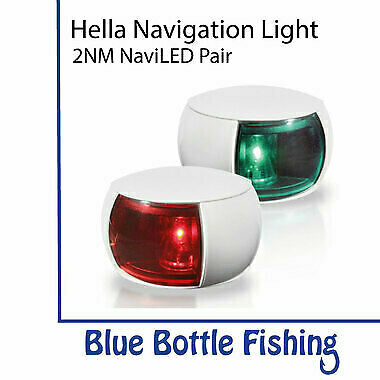 NEW Hella 2NM NaviLED Port and Starboard Pair- White from Blue Bottle Fishing