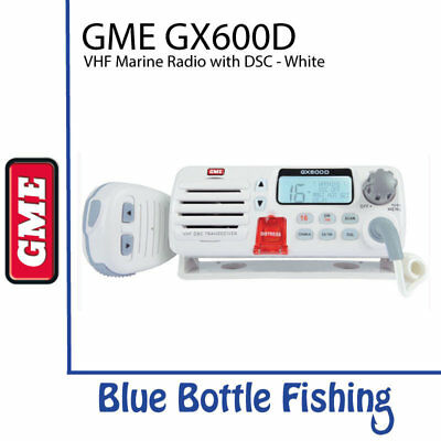 NEW GME GX600D VHF Marine Radio with DSC - White from Blue Bottle Marine