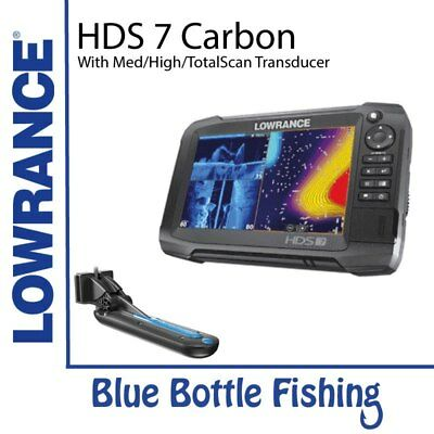 NEW Lowrance HDS-7 Carbon With Med/High/TotalScan from Blue Bottle Marine