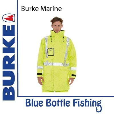 NEW Burke 3/4 Hi-Vis Safety Wet Weather Jacket from Blue Bottle Marine